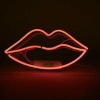 Pink Neon Lips Light - Urban Outfitters