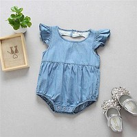 born Infant Baby Girls Romper Hollow love Jumpsuit Clothes Outfits