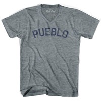Pueblo City Vintage V-neck T-shirt