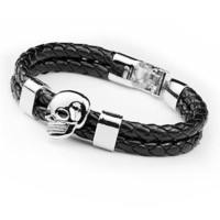 Great Deal Gift New Arrival Hot Sale Shiny Stylish Awesome Skull Punk Black Men Accessory Korean Cool Ring Bracelet [6526731139]