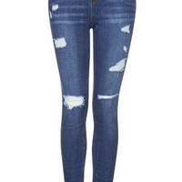 MOTO Authentic Ripped Skinny Jeans - Stone