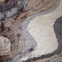 Design 29 Earth 100% Polyester Modern Hand Tufted Shag Area Rug