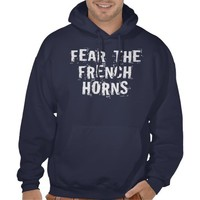 Mens Funny French Horn Hoodie from Zazzle.com