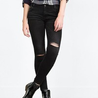 Winter Women's Fashion Stretch Ripped Holes Jeans [6512932999]