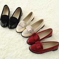 Women Pumps with Bow Low Heels Shoes 6446