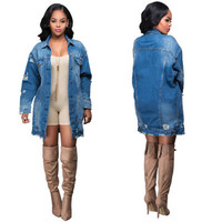 Fashion Women Jeans Long Sleeve Outerwear Jacket Top _ 11647
