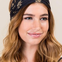 Half Boho Bandeau by Natural Life in Night Rose