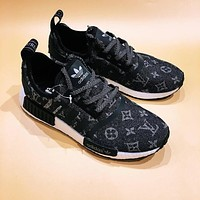 Louis Vuitton x Adidas NMD Trending Running Sports Shoes Sneakers