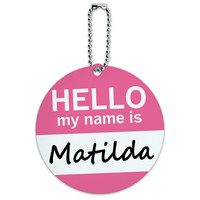 Matilda Hello My Name Is Round ID Card Luggage Tag