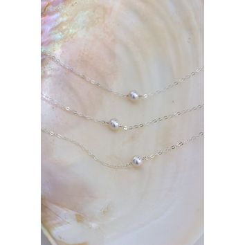 Pearl Solitaire Necklace - Christine Elizabeth Jewelry