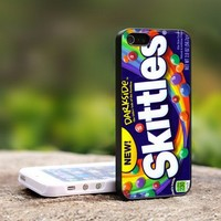New Skittles Darkside Rainbow - For iPhone 4,4S Black Case Cover