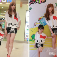 Children Clothes 2014 Baby/ Summer Girls styling short-sleeved T-shirt+Shorts 2 pc Sets. Baby suit.