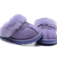 """UGG"" Fashion Women Casual Wool Slipper Shoes Purple"