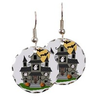 Halloween Haunted House Ghosts Earring Circle Char> Halloween Haunted House Ghosts> Bonfire Designs
