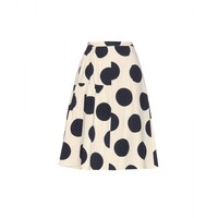 SPOTTED COTTON SKIRT
