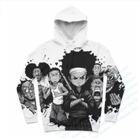 Newest Fashion Womens/Mens Boondocks Funny 3D Print Casual Hoodies Pullovers Sweatshirts LMS00032