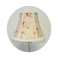 Durham Quilt Collection Pink Roses on Pink background Shabby Chic Lamp Shade
