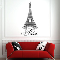 Wall Decal Paris Eiffel Tower Vinyl Sticker Urban Wall Decals Paris Travel France Wall Art Bedroom Living Room Office Street Art Decor 0044