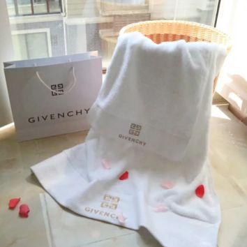 Givenchy Household Towel New Fashion High quality  Embroidery Letter Towel, Bath Towel 2 Pieces White