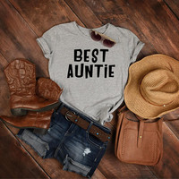 New Aunt Gift, Best Auntie Shirt, Aunt T-shirt, Auntie Gift, Gift for Aunt, T-shirt for Auntie, Funny Gift, Aunt to be Tee