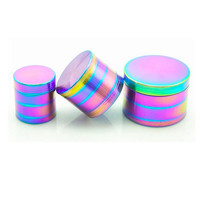 4 Layer Herb Grinder Tobacco Weed Grinder Rainbow Gifts for Stoners Oil Metal Galaxy