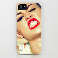 Miley Cyrus iPhone & iPod Case by Nicolaine Ortuno