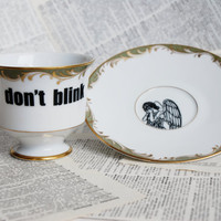 Chateau Weeping Angel Don't Blink Teacup