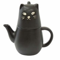 Rakuten: 《 black cat 》 Tea four one set (the tableware gift mail order ☆ / cinema collection that teapot + teacup )☆ is interesting)◆- Shopping Japanese products from Japan
