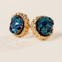 Ming Druzy Stud in Blue