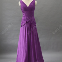 Purple bridesmaid dress - long bridesmaid dress / purple evening dress / long evening dress / formal evening dress / purple party dress