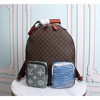LV Louis Vuitton BEST QUALITY MEN'S MONOGRAM CANVAS BACKPACK BAG