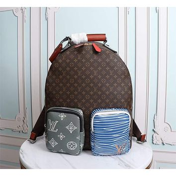 LV Louis Vuitton MEN'S MONOGRAM CANVAS BACKPACK BAG