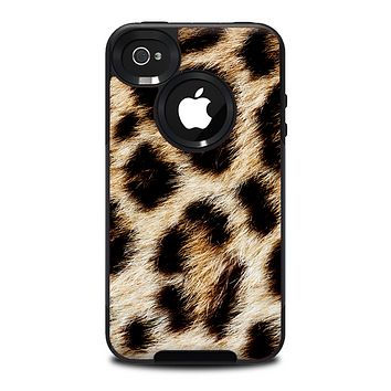 The Leopard Furry Animal Hide Skin for the iPhone 4-4s OtterBox Commuter Case
