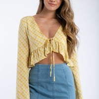 Honey Bee Top in Yellow