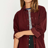 Urban Renewal Vintage Customised Wine Pinwell Cord Shirt - Urban Outfitters