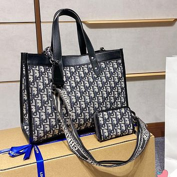 Dior shopping bag two-piece set of personality all-match shoulder bag