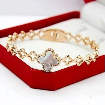 Van Cleef & Arpels New fashion four-leaf clover bracelet women jewelry
