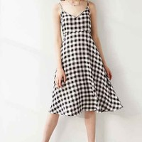 Native Youth Gingham Midi Dress