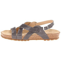 Haflinger Womens Leather Flat Strap Sandals
