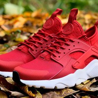 Best Online Sale Nike Air Huarache 4 Run Rainbow Ultra Breathe Women Men Red/White Running Sport Casual Shoes Sneakers - 931