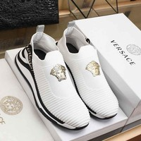 Versace Men Fashion Sneakers Sport Shoes White