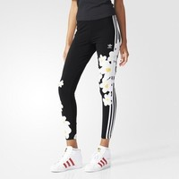 Tagre™ Fashion Adidas Flowers Print Tight stretch Exercise Fitness Gym Yoga Running Leggings Sweatpants