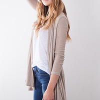 Gab & Kate Nothing Compares Cardi - Taupe