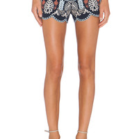 J.O.A. Eyelet Embroidery Short in Navy