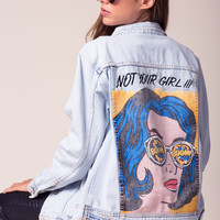 Not Your Girl Denim Jacket