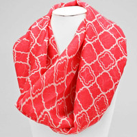 Moroccan Infinity Scarf Pink