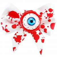 Kreepsville 666 Blood Splatter Eyeball Hair Clip | Gothic Punk Rockabilly Horror