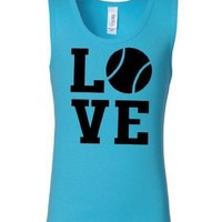 Youth Tennis Love Teal Tank Top Limited Quantities