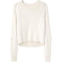 3.1 Phillip Lim Cropped Body Mapped Pullover