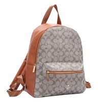 Coach hot seller of shopping backpacks with fashionable ladies' casual printing and color stitching #1